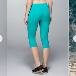 Lululemon In The Flow Crop II Heather Blue Tropics